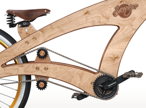 Sawyer wooden bicycle